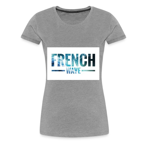 FRENCH WAVE LOGO - T-shirt Premium Femme