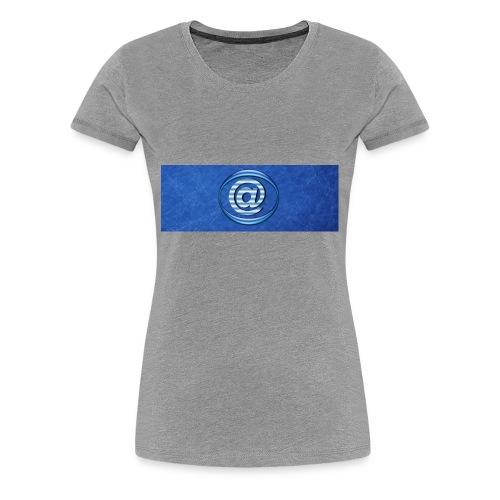 At Sign Dark Blue - Vrouwen Premium T-shirt