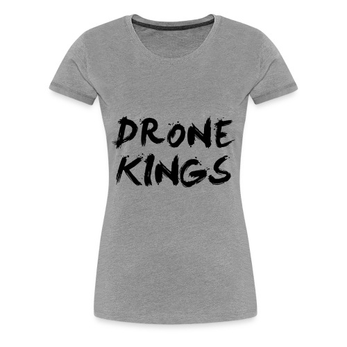dronekings-blacktext-outlines - Premium-T-shirt dam