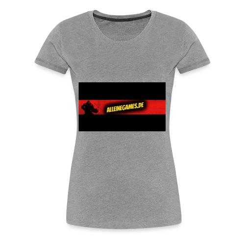 AlleineGames.de - Frauen Premium T-Shirt