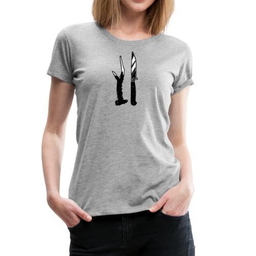Gabel und Messer - Frauen Premium T-Shirt