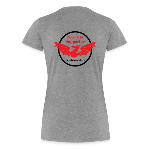 Scarlets Supporters Pembrokeshire logo 2 - Women's Premium T-Shirt