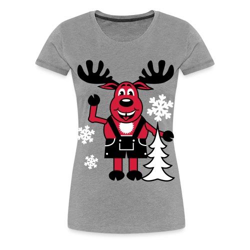 Hirsch Rudolph aus Bayern Lederhose Tannenbaum - Frauen Premium T-Shirt