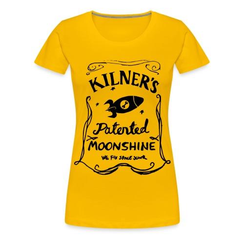 Kilner's Patented Moonshine (Black) - Women's Premium T-Shirt