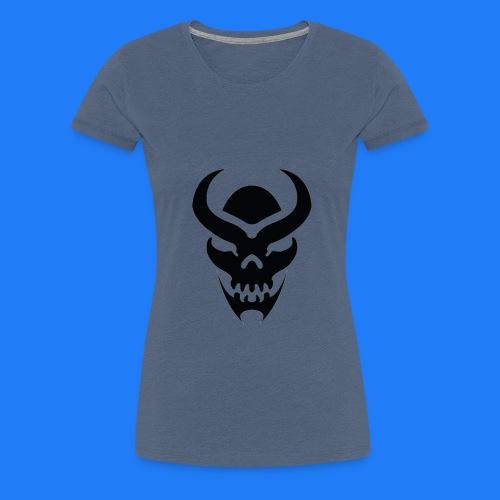TRIBAL SKULL NOIR - T-shirt Premium Femme