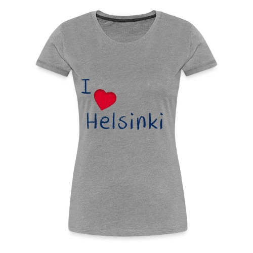 I Love Helsinki - Naisten premium t-paita