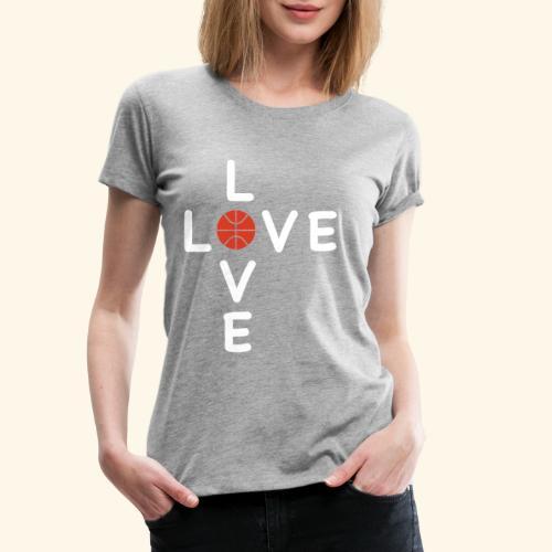 LOVE Cross basketball red 001 - Frauen Premium T-Shirt