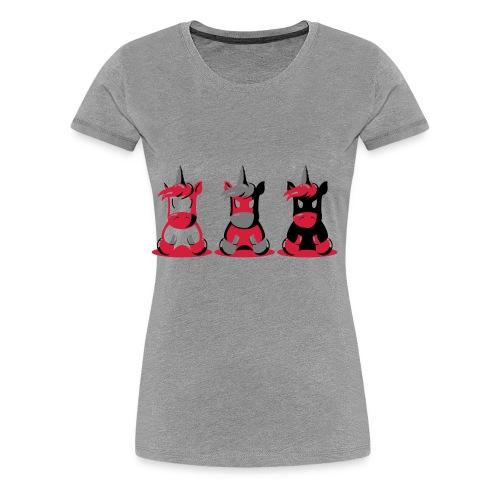 Angry Unicorn - Frauen Premium T-Shirt