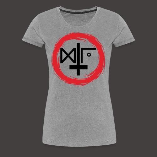 Logo Gu Croix Noir - T-shirt Premium Femme