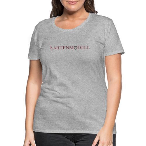 Kartenmodell Schriftzug - Frauen Premium T-Shirt