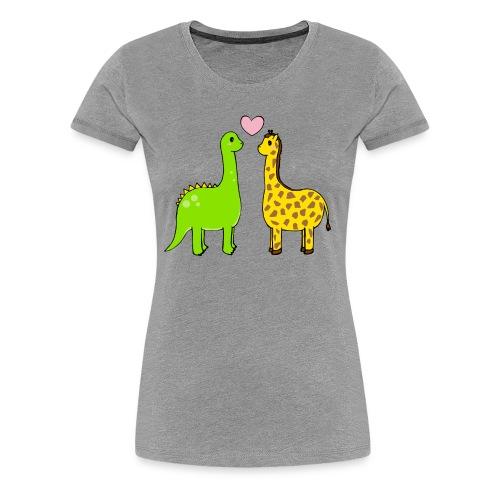 Dino Giraffe True - Premium-T-shirt dam