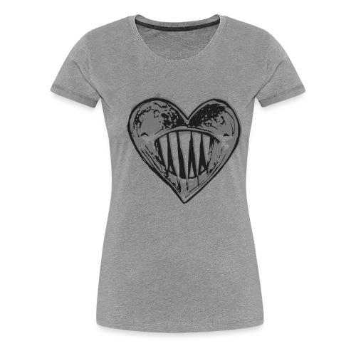 Corazón Negro - Camiseta premium mujer