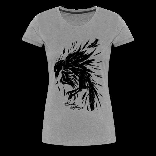 raven_tribal - Frauen Premium T-Shirt
