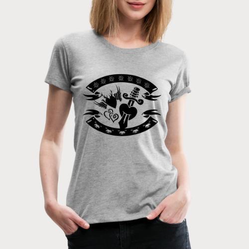 Tracht vs. Rockabilly - Frauen Premium T-Shirt