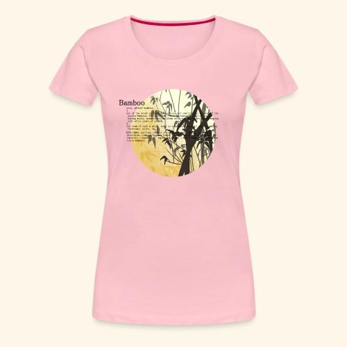 Bamboo - Premium-T-shirt dam
