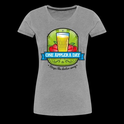 One Äppler a Day - Frauen Premium T-Shirt