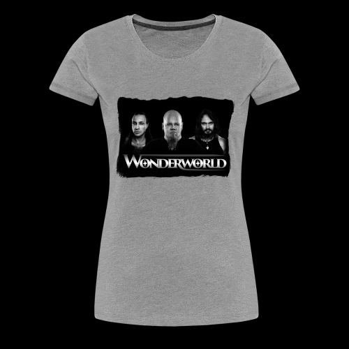 Wonderworld Black and white - Premium T-skjorte for kvinner