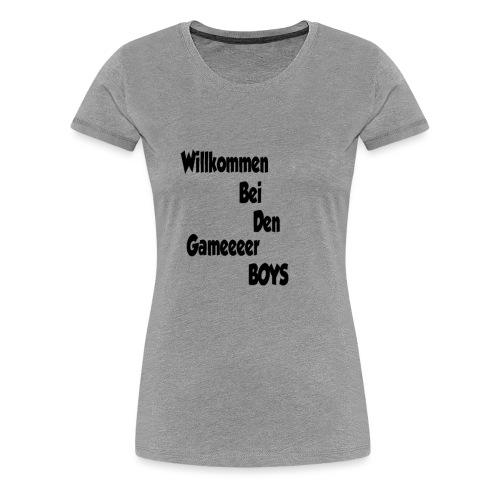 Begrüßung Schwarz - Frauen Premium T-Shirt