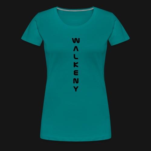 Walkeny Schriftzug vertikal in schwarz - Frauen Premium T-Shirt