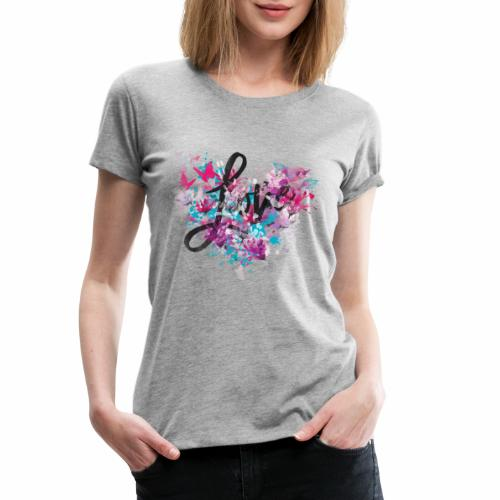 Love with Heart - Women's Premium T-Shirt
