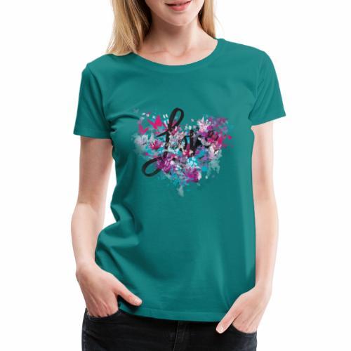 Love with Heart - Women's Premium T-Shirt