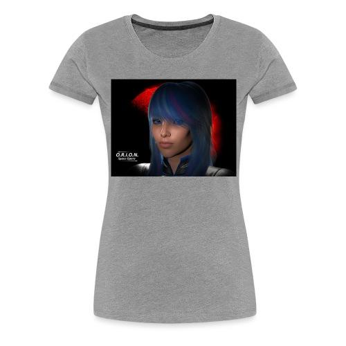 skyblue3riesig - Frauen Premium T-Shirt
