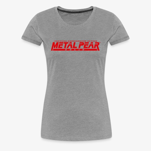 Metal Pear Solid: Tactical Greengrocer Action - Women's Premium T-Shirt