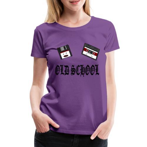 Old School Design - Frauen Premium T-Shirt