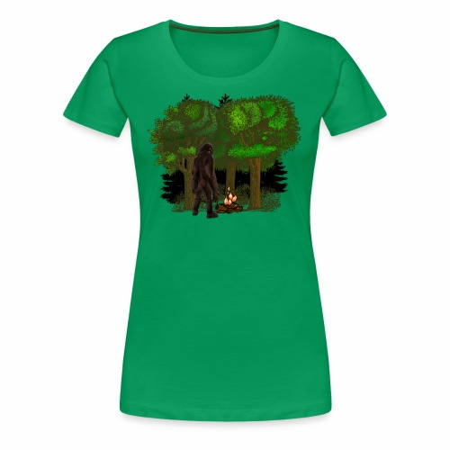 Bigfoot Campfire Forest - Women's Premium T-Shirt