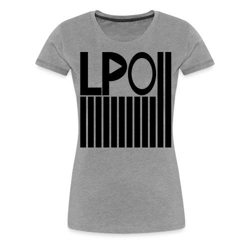 LPO Striche Schwarz png - Frauen Premium T-Shirt