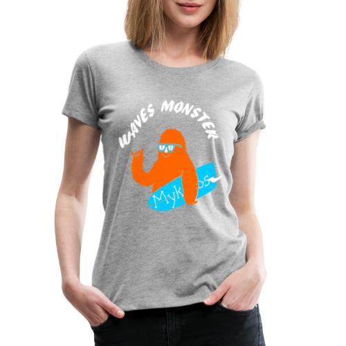 Waves Monster - T-shirt Premium Femme