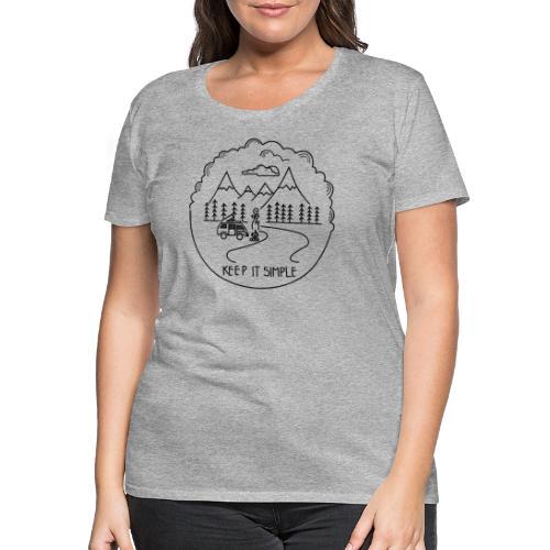 Keep it Simple Clouds Camping Trailer - Frauen Premium T-Shirt