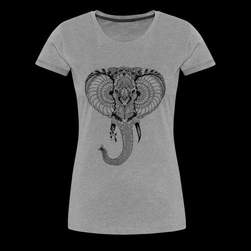 Elephant stylisé - T-shirt Premium Femme
