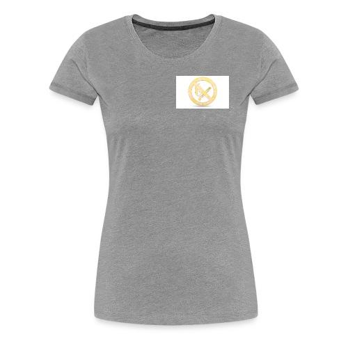 Feuerverbot gelb - Frauen Premium T-Shirt
