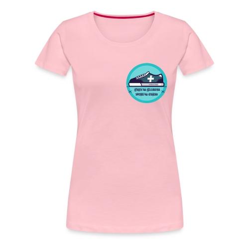 Gehe im Glauben nicht im Sehen - Frauen Premium T-Shirt