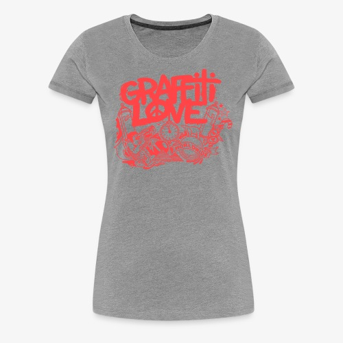 cosmos1 red graffiti love - Frauen Premium T-Shirt