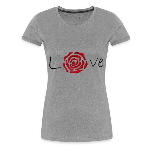 Rose-Love - T-shirt Premium Femme