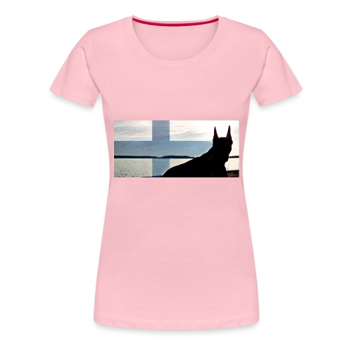 HUPPARITAUSTA2016 copy - Naisten premium t-paita