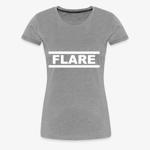 Black Hoodie - White logo - FLARE - Vrouwen Premium T-shirt