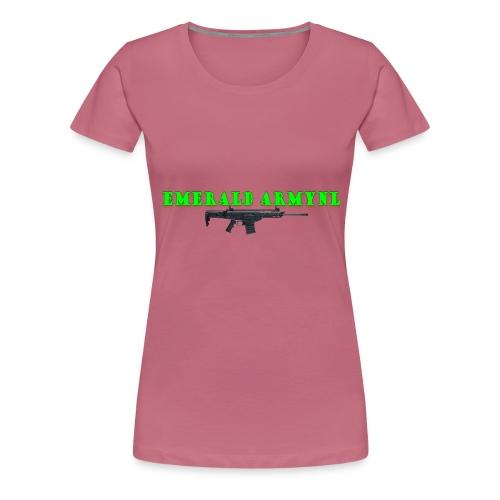 EMERALDARMYNL LETTERS! - Vrouwen Premium T-shirt