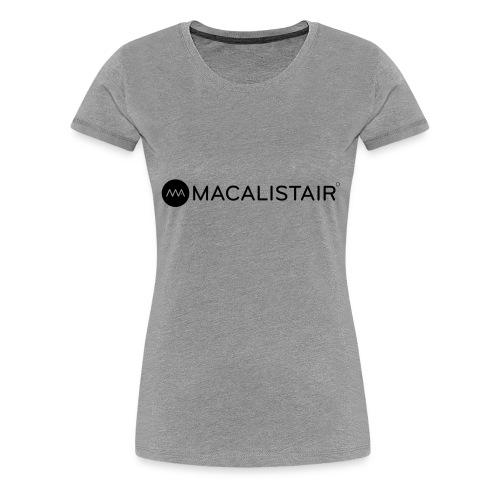 macalistair_logo+tekst - Vrouwen Premium T-shirt