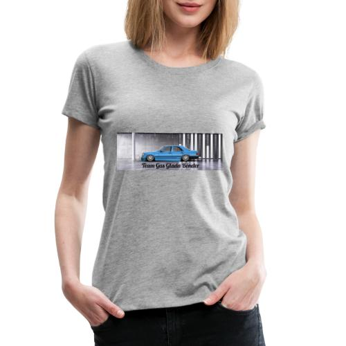 "Mercedes 190E "" Team Gas Glada Bönder"" - Premium-T-shirt dam"