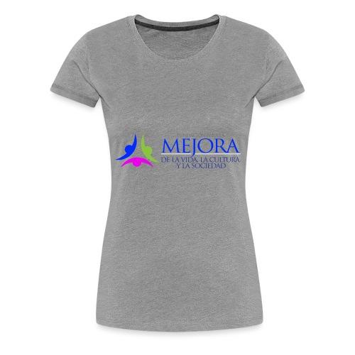 Logo Colorido Alargado - Camiseta premium mujer