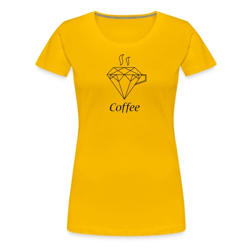 Coffee Diamant - Frauen Premium T-Shirt