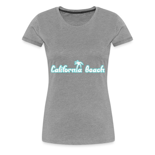 California Beach - Premium-T-shirt dam