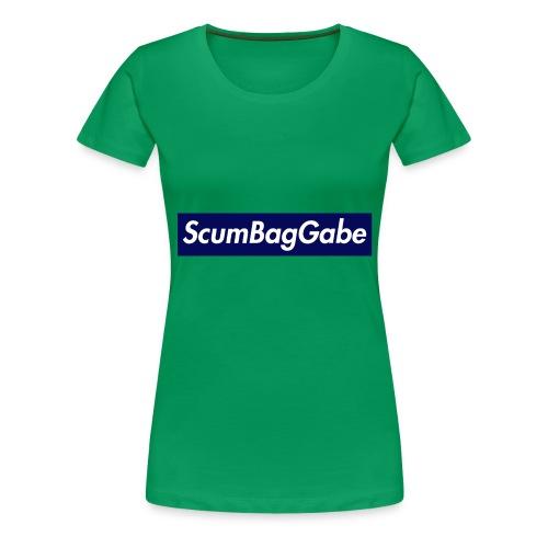 ScumBagGabe Blue XL Logo - Women's Premium T-Shirt