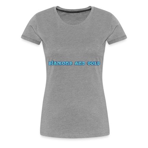 Diamond And Gold - Premium-T-shirt dam