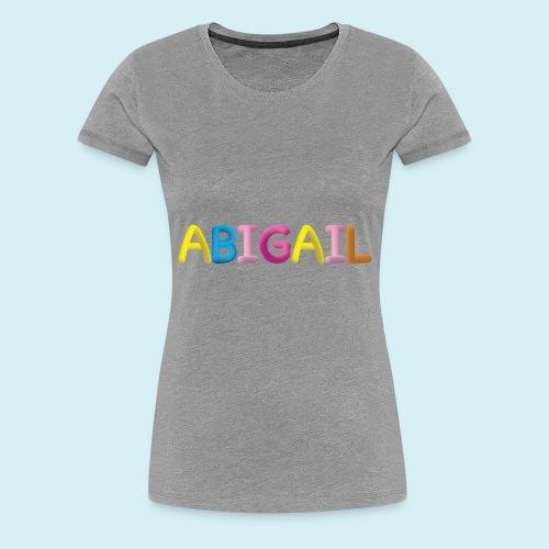 Fluffy Abigail Letter Name - Women's Premium T-Shirt