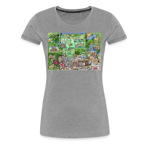 Staycation Live map - Women's Premium T-Shirt