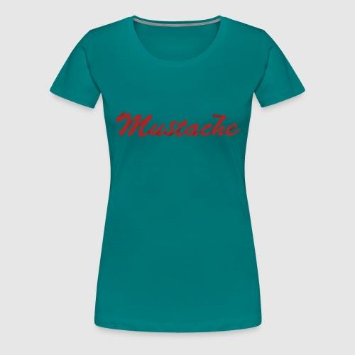 Red Mustache Lettering - Women's Premium T-Shirt